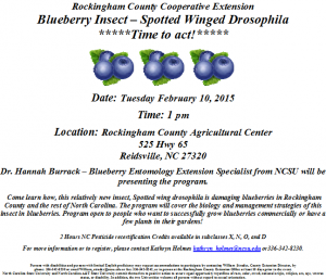 Cover photo for Blueberry Insect - Spotted Winged Drosophila **Time to Act!**