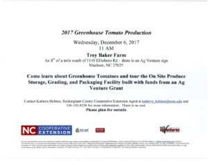 Cover photo for 2017 Greenhouse Tomato Production