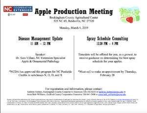 Cover photo for Apple Disease Update Meeting