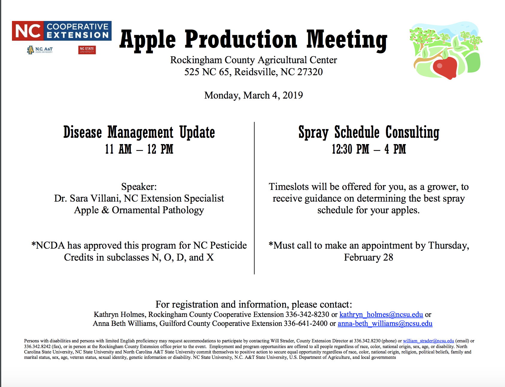 Apple production meeting flyer image