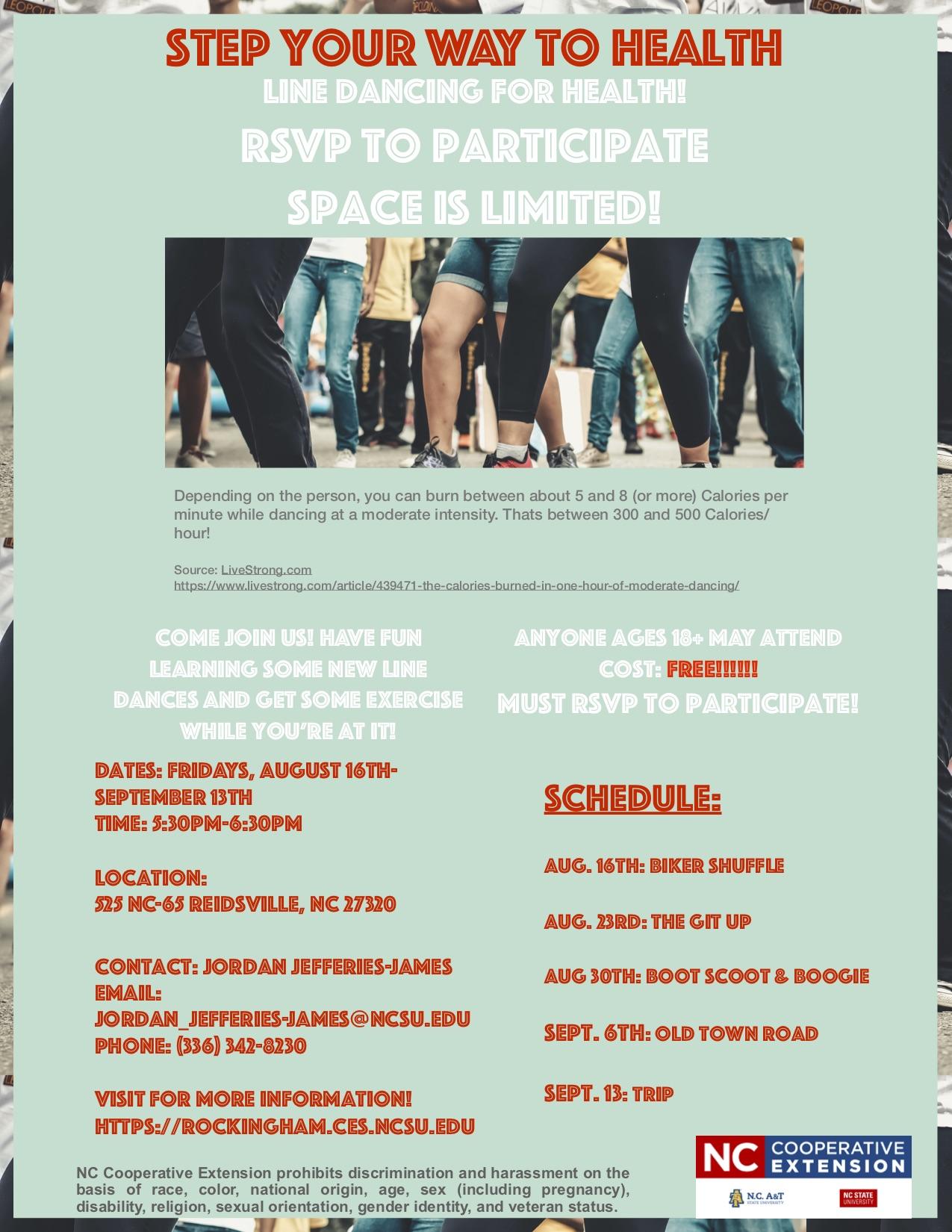 Line Dancing Event Flyer