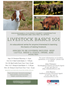 Cover photo for Livestock Basics 101- Program Series