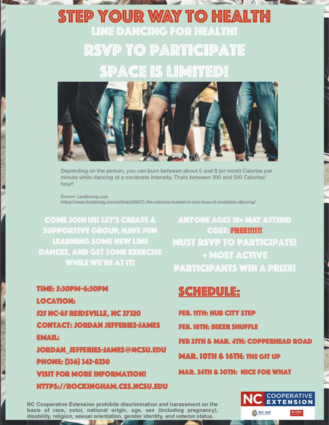 Steps To Health Program Flyer