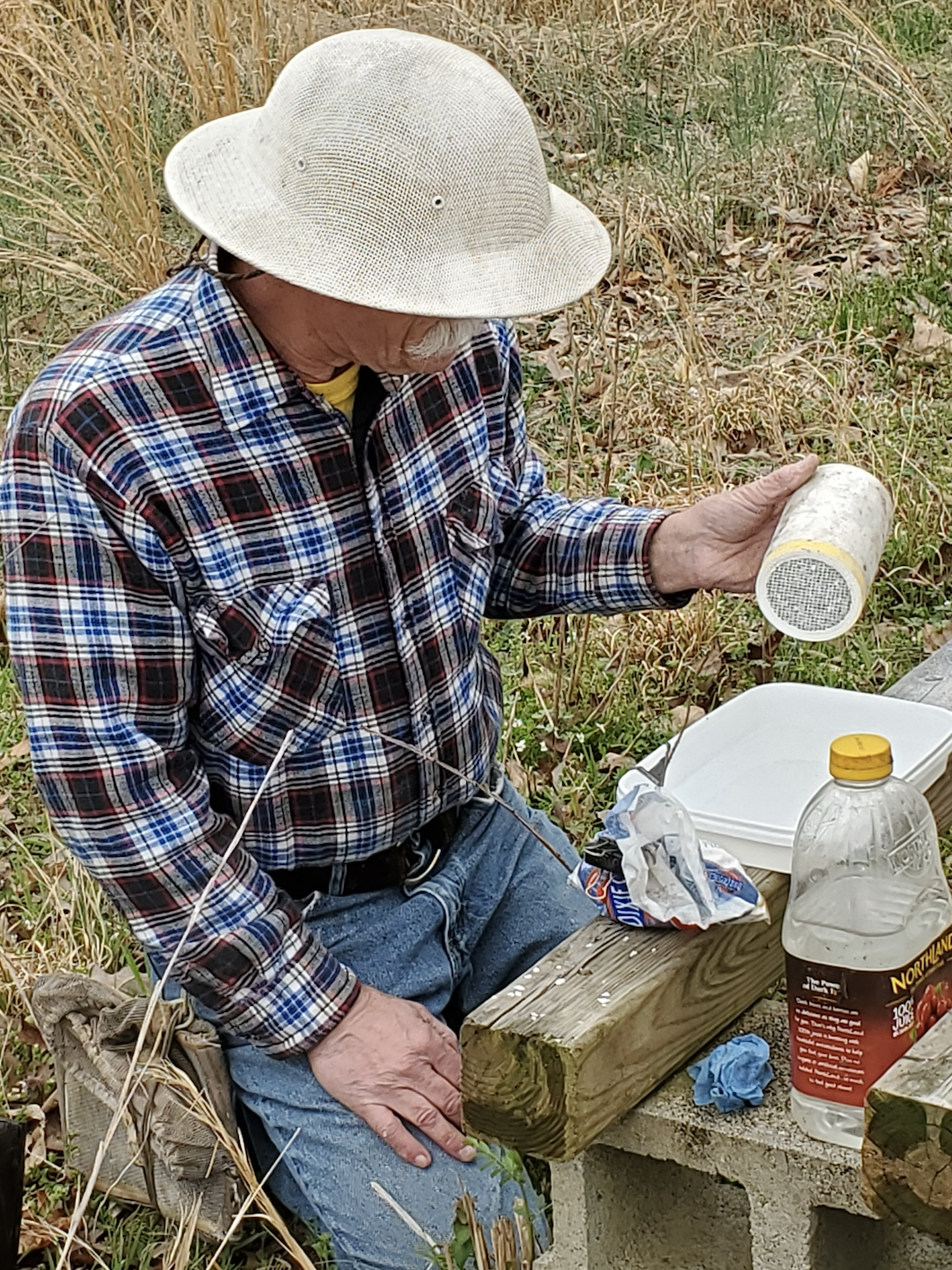 Conducting mite count