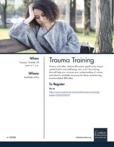 Trauma Training Flyer